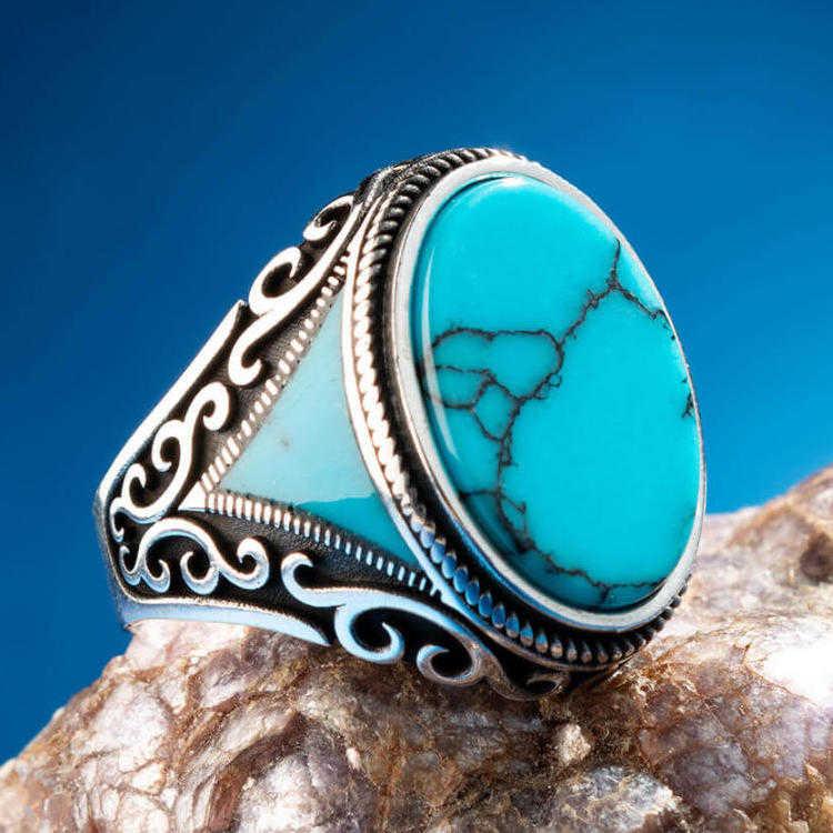Sterling silver Gemstone Jewellery  gemstone ring Turquoise gemstone ring